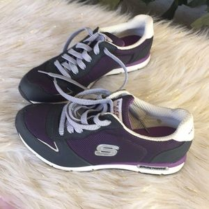 Sketcher sport size 6 1/2 purple and  gray New